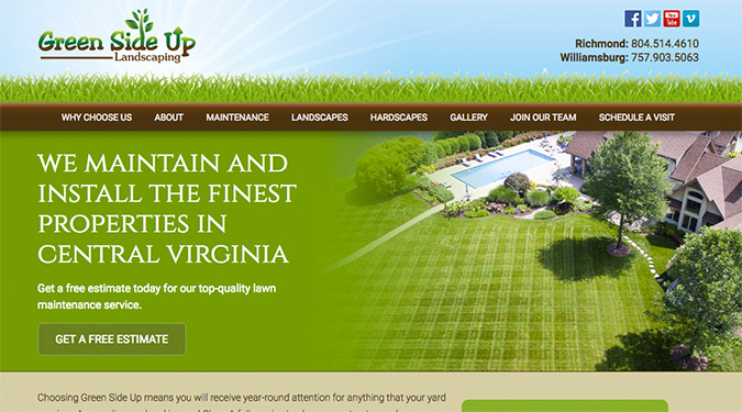 Green Side Up Landscaping approached us in 2014 to help them with their  website. Their site had a multitude of issues, including everything from  poor ... - Case Study: Green Side Up Landscaping - Torx Media