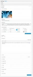 wordpress admin pages | flexible content